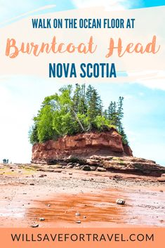 Burntcoat Head Park, Nova Scotia on the Bay of Fundy Flowerpot Island, Nova Scotia Travel, Canadian Travel, Canadian Rockies, Annapolis Valley, East Coast Travel, Atlantic Canada, Vancouver, Prince Edward Island