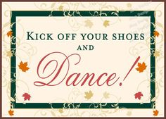 Fall Wedding Reception Kick Your Shoes Off by iDoArtsyWeddings, $5.50  Sign with basket of flip flops ???