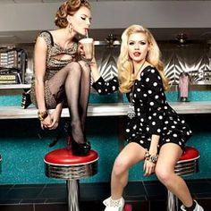 with Martina and Bella for Betsey J 21 Bday Ideas, Retro Diner, American Diner, Prom Photos, Rockabilly Fashion, Esquire, Betsey Johnson, Fashion Photography, Photography Ideas