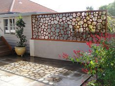 Awesome laser cut metal privacy screens