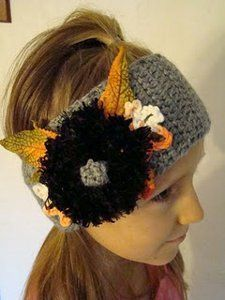 This Crochet Fall Headband is so fun with its leaf embellishment. There is a button closure making it easily wearable for a teen or adult. Make this easy crochet pattern to add as an accessory; Thanksgiving Crochet, Crochet Fall, All Free Crochet, Crochet Cross, Love Crochet, Crochet Flowers, Halloween Crochet, Thanksgiving Crafts, Easy Crochet