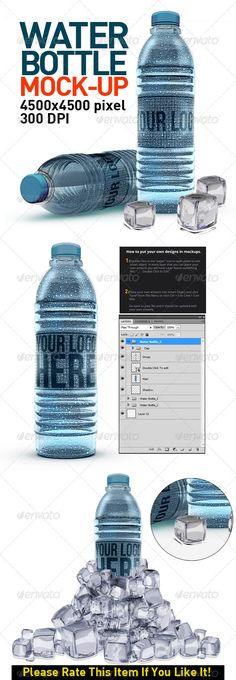 Water Bottles Mock Up #GraphicRiver Water Bottles Mock Up 4500×4500 pixel 300 dpi font: .dafont /bebas-neue.font Created: 5November12 GraphicsFilesIncluded: PhotoshopPSD HighResolution: Yes Layered: Yes MinimumAdobeCSVersion: CS4 PixelDimensions: 4500x4500 PrintDimensions: 15x15 Tags: aqua #blue #bluebottle #cap #cold #cool #dark #drink #drops #fresh #healthy #ice #liquid #mockup #modern #natural #package #packaging #plastic #presentation #print #psd #refreshing #sport #transparent #water…
