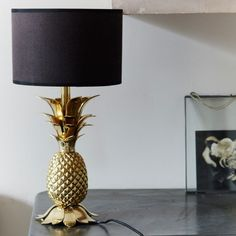 Gold Pineapple Table Lamp Base