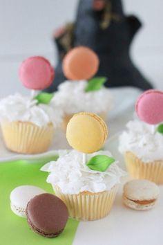 Make Macaron Cupcakes for Wedding | Polka Dot Bride