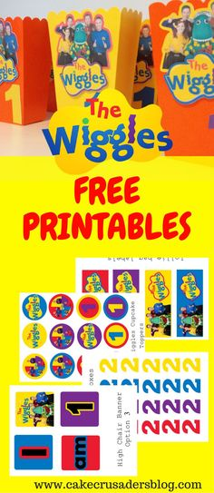 The Wiggles Birthday Party Decorations with free printable images . Todays FREE printables are The Wiggles Birthday Theme. These decorations are perfect for Wiggles Birthday, Wiggles Party, The Wiggles, Baby First Birthday, Wiggles Cake, Husband Birthday, Cake Birthday, Birthday Nails, Birthday Invitations