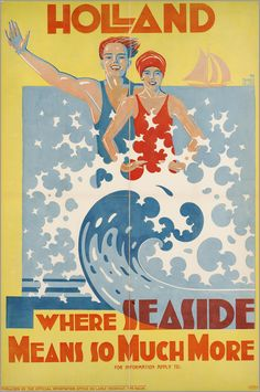 THE NETHERLANDS - Holland, where seaside means so much more. 1930 #Vintage #Travel