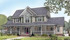 Elevation of Country   Farmhouse  House Plan 96826--- The Backup Plan