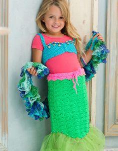 Petite Mermaid Costume  -- I would do the bottom in the Crocodile Stitch.