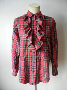 Vintage Flannel Shirt Oversized Size Small by littleraisinvintage, $13.00