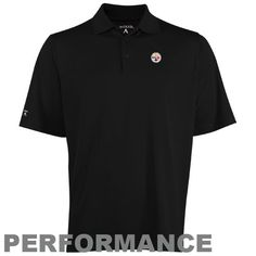 da31cae0 NFL Antigua Pittsburgh Steelers Pique Xtra-Lite Polo - Black  https://allstarsportsfan