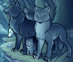 How to Draw a Wolf Pack, Pack of Wolves, Step by Step, forest animals, Animals, FREE Online Drawing Tutorial, Added by Dawn, September 13, 2012, 3:36:04 pm