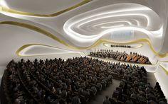 nanjing kultur konferenz-zentrum China-Decken Gestaltung-Zaha Hadid-fließend