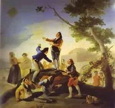 Nuestra tradiciones. Pascua. La Cometa (The Kite) 1778  Museo Del Prado Madrid  Francisco de Goya