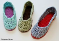 Immediate Download  Ladies Slippers Crochet by petalstopicots, $5.50