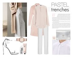 """""""Pastel Trenches"""" by nmkratz ❤ liked on Polyvore featuring Bobbi Brown Cosmetics, Accessorize, Rochas, DKNY, Yves Saint Laurent, Proenza Schouler, Christian Dior, Joseph, Marc by Marc Jacobs and women's clothing"""