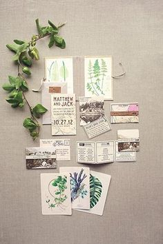 Botanical invitations