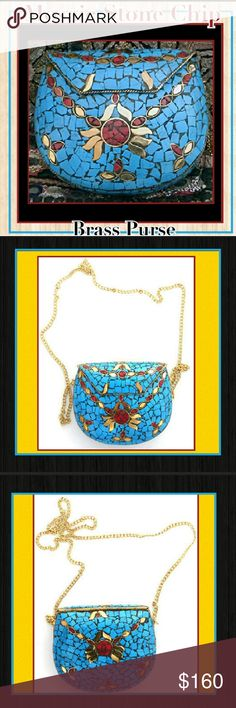 BOHO Hippie Gypsy Mosaic Stone Chip Brass Bag Coming Soon to Rock'N Ship! Est. Arrival 2/28! Boho Hippie Gypsy Mosaic Stone Chip Brass Bag This bag is totally unique and will be loved by many but owned by only You since these are Handmade!  Rock'N Ship is a top rated closet, please like or share our items and come back soon, we add new items daily! boutique Bags Shoulder Bags