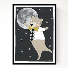 Affiche Moonlight Bear A3