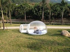 This Cool Transparent Bubble Tent Lets You Sleep Underneath The Stars #camping #outdoors #tent