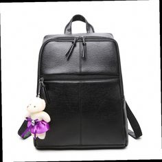 43.72$  Watch here - http://alieuf.worldwells.pw/go.php?t=32748145382 - Brand Luxury Backpack 2016 Women Backpack Fashion High Quality Ladies Leather Portable Big Black Bags BB0087