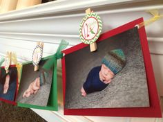 1st Year Photo Clip Birthday Party Banner - Peter Pan Inspired - Red & Green - Party Packs Available