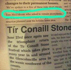 The Journalist had one job!
