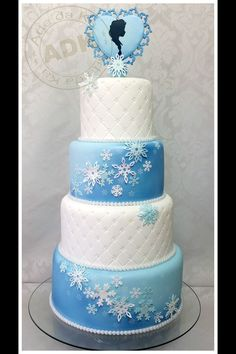 Frozen Elsa inspired cake from ADK!