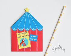 Printable Circus Birthday Party Circus Tent por PaperBuiltShop