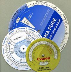 Wheel Chart Style Calculators or Volvelles