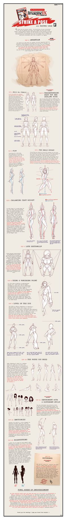 Strike a Pose. Drawing Tips.