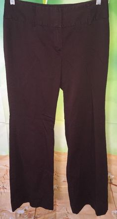 Body by Victoria The Christie Fit Womens Sz 4 Brown Flare Pants Victoria's Sec | eBay