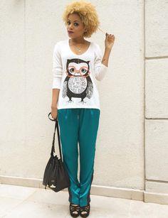 Blusa MOB, calça Animale, bolsa Schutz e sandália Shoestock. #MahVeste