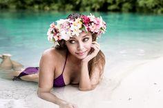 Lingerie and bikini shoot in Bora Bora, under the rain