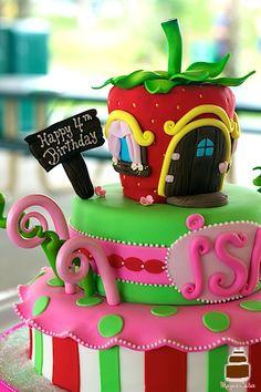 Strawberry Shortcake Birthday Cake - Girl Birthday Cake - Sunrise, FL Cute Birthday Cakes, Twin Birthday, Birthday Stuff, Birthday Ideas, Pretty Cakes, Cute Cakes, Strawberry Shortcake Birthday Cake, Baby Girl Cakes, Mermaid Cakes