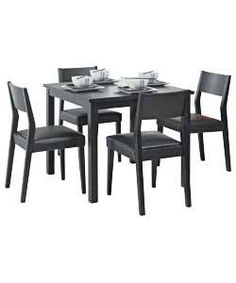 Legia Oak Space Saving Dining Table and 4 Stools