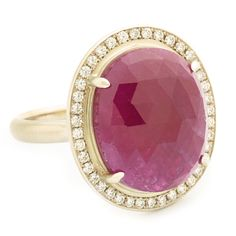 One of a Kind Dark Orchid Ruby Ring  #annesportun