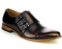 Men\'s Three Strap Monk Shoes