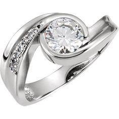 Engagement Ring with stunning and unique mounting. #engaged #klinesjewelry www.klinesjewelryonline.com