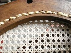 FREE chair caning instructions and directions on how-to cane chairs by hand, strand caning or lace cane to make your DIY chair caning project a success! Chair Repair, Furniture Repair, Wicker Furniture, Repurposed Furniture, Antique Furniture, Furniture Online, Furniture Makeover, Diy Furniture, Bentwood Chairs