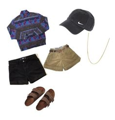 """""""Untitled #40"""" by ash1243 on Polyvore featuring Hollister Co., Sessùn, NIKE, Giani Bernini and Birkenstock"""