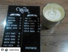 "Ditunggu lagi loh nongkri-nongkri Cantiknya di sini :p Makasih ya. .  #Repost @saanissa with @repostapp  ""Hot Matcha"" Late post hasil nongkri cantik kemarin.. nyoba tempat ngopi yang baru buka namanya @kopiwaton Mantaplahh.. Lokasi: jalan buncit raya 115  #hungeryou_kuliner #kulinerjkt #instafood #foodphotography #foodporn #coffee #matcha #kopiwaton"