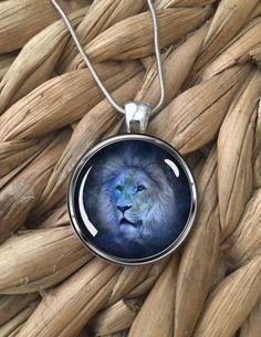 Leo Lion Zodiac Astrology Narnia Aslan Glass Pendant Silver Chain Necklace NEW  | eBay