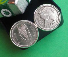 60th birthday 1956 irish coin cufflinks by vintageirishdresser irish christmas christmas gift for dad