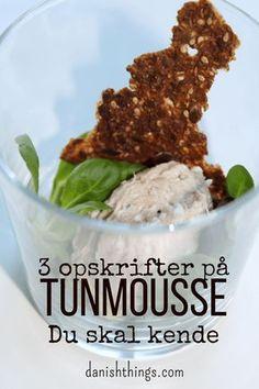 3 opskrifter på tunmousse du skal have i din samling. Easy Healthy Recipes, Veggie Recipes, Vegetarian Recipes, Snack Recipes, Vegetarian Barbecue, Barbecue Recipes, Vegetarian Cooking, Veggie Food, Mousse