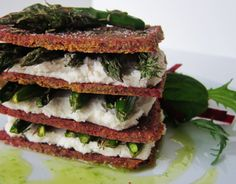"Smart Health Talk Top Raw Pick:  Raw Asparagus Chevre Napoleons. Never in food science class did we define a cracker with these ingredients.  You will need a dehydrator.  Want to get one just to make these crackers.  Now understand that ""chevre"" is a vegan form of cheese made from nuts. Don't see as substitute for cheese because some flavors of real cheese have such distinct flavor, hard to recreate, but can see it as a different flavor that I can choose more to add and see if I like it."