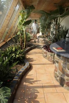 Inside an Earthship. I can't wait to wake up in mine every morning.