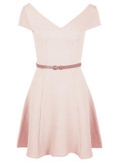 Spring Fashion 2015 - Miss SelfridgeNude Bardot Fit Flare Dress