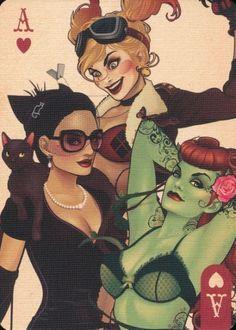 Reyro Catwoman, Harley Quinn, and Poison Ivy Catwoman, Batgirl, Sirens, Super Heroine, Harley Quinn Comic, Arte Dc Comics, Pin Up, Gotham Girls, Batman Universe
