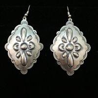 Earrings - National Cowboy Museum - Silver Stamped Diamond Earrings