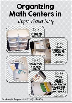 Organizing Math Centers - Teaching to Inspire with Jennifer Findley